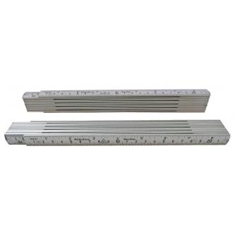 Metru din aluminiu cm/inch - 2 m - Hultafors Suedia