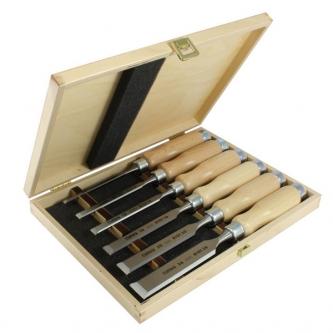 Set 6 dalti Narex Profi in cutie de lemn (light)