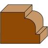 Freza pentru rotunjit colturile, cu rulment -  Klein E152.367.R