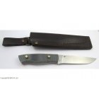 Kit EnZo Trapper 115 mm / 12C27 / Flat /  Black Micarta