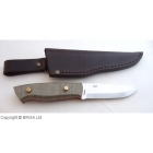 Kit EnZo Trapper 95 - otel N690 - grind Scandi - plasele Green Canvas Micarta