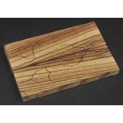 Plasele Zebrano simetrice (spalted) - 125 x 40 x 10 mm (x2)