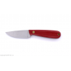 Cutit Brisa Necker 70 Alice Flat / teaca piele / Micarta rosie