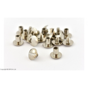 Nituri Chicago Argintii 11 x 7 mm / 10 buc