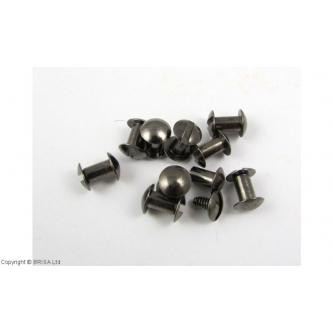 Nituri Chicago Gun Metal 6,5 x 10 mm / 10 buc