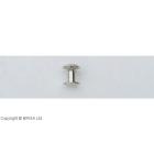 Nituri Chicago Argintii - 11 x 12,5 mm / 10 buc