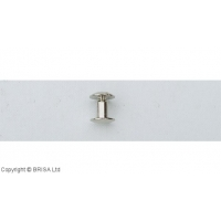 Nituri Chicago Argintii - 11 x 12.5 mm / 10 buc
