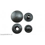 Set capse negre 15 mm / 10 buc