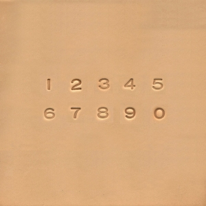 Set stampile piele 3D - cifre