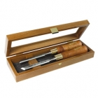 Set 2 dalti Narex in unghi in cutie de lemn / 12 mm
