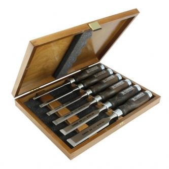 Set 6 dalti Narex Profi in cutie de lemn