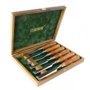 Set 6 dalti Narex Premium in cutie de lemn