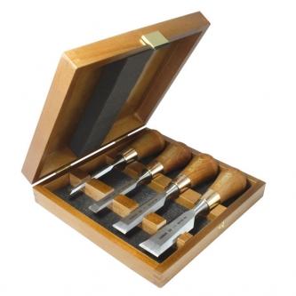 Set 4 dalti pentru imbinari Narex Premium in cutie de lemn