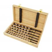 Set burghie tip Lewis in cutie din lemn - 6, 8, 10, 12, 14, 16 mm