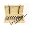 Set burghie tip Lewis in cutie din lemn - 10, 12, 14, 16, 18, 20 mm