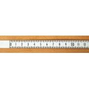 Rigla gradata autoadeziva 0.5 m - stanga -> dreapta (alba)