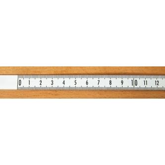 Rigla gradata autoadeziva 1 m - stanga - dreapta (alba)