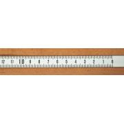 Rigla gradata autoadeziva 0.5 m - dreapta -> stanga (alba)