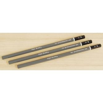 Set 3 creioane Shinwa PRO Japan - duritate medie (gri)